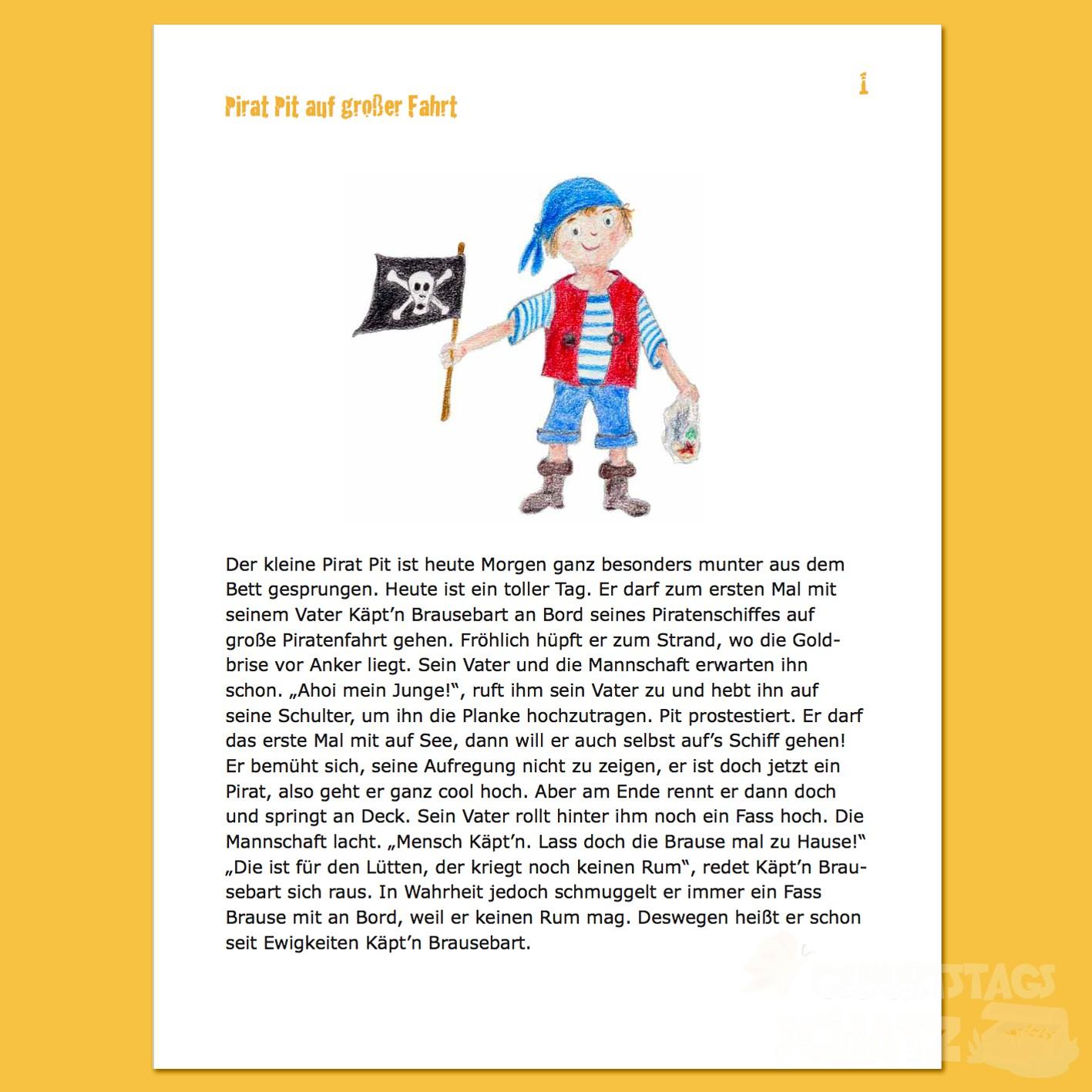 Gut gemocht Schatzsuche Pirat (5-6 Jahre) - TS74