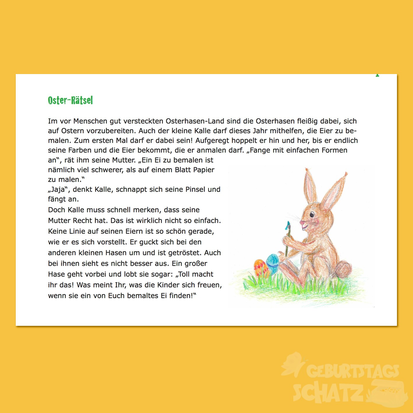 Oster-Rätsel -
