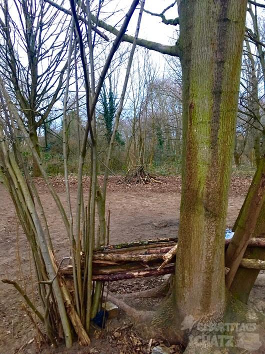 Versteckmöglichkeit im Wald