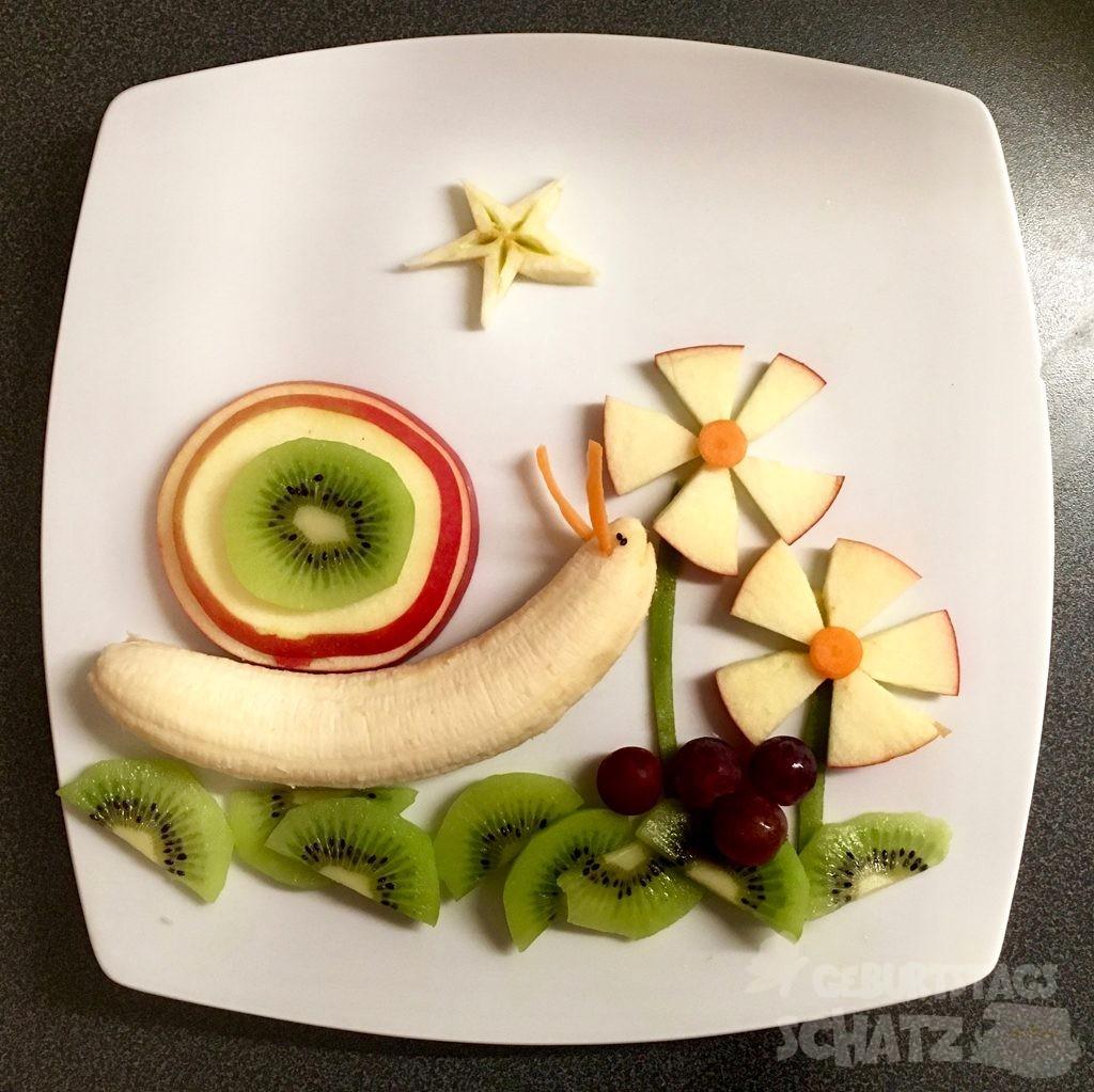 Bananenschnecke mit Apfel-Kiwi_Haus.