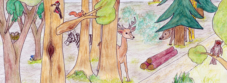 Ausschnitt aus der Schatzsuche Wald