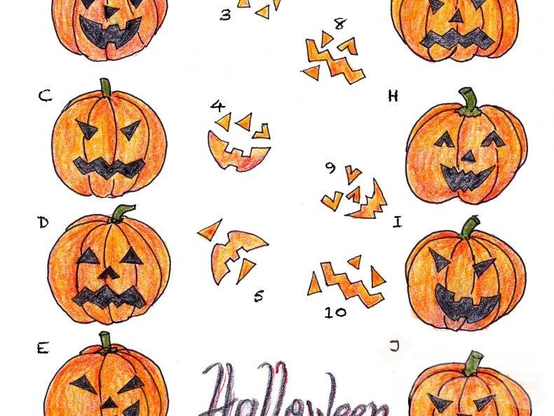 Ein Ausschnitt aus dem Kürbisrätsel mit dem Schriftzug Halloween